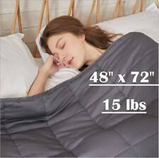 """Weighted Blanket Twin Size Calm Down 48 x 72"""" Full Twin Size 15lbs Promote Sleep"""