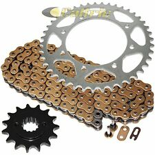Gold O-Ring Drive Chain & Sprocket Kit Fits KAWASAKI KLR650 KL650A KL650E 90-16