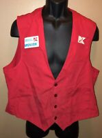 Vintage 90s K-MART Smock w/ Name Tag Red Employee Vest S&TS Customer Care LOGO