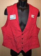 Vintage 90s K-MART Smock w/ Name Tag Red Employee Vest S&TS Customer Care LOGO