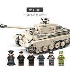 WWII German Panzer King Tiger II Tank World War 2 II moc WW2 blocks Germany