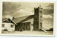 MT Montana Browning Church of the Little Flower Real Photo RPPC Unposted