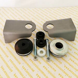 Ford Flathead V8 Motor Mount Kit - Weld-in Platforms with 'Donut' Style Mounts