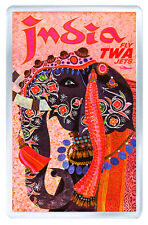 INDIA TOURISM VINTAGE REPRO FRIDGE MAGNET IMAN NEVERA