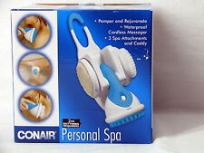 Conair Personal Spa for Shower, Cordless Massager with 3 Spa Attachements