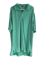 Peter Millar Summer Comfort Golf Polo Shirt Mens XL Green Striped Short Sleeve