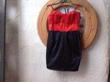 L@@K H&M Designer Strappy Black/red Silky Dress UK 12(38) NEW WT XMAS RRP £19.99