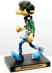 Figurine Gaston Lagaffe Rétroviseur à piéton boite - Plastoy inventions n°2 NEUF