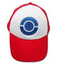 Pokemon ASH KETCHUM Trainer Unova Baseball Hat Cap Blue Poké Ball Sun for Kids