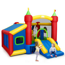 Inflatable Bounce House Kids Slide Jumping Castle with Ball Pit and Dart Board