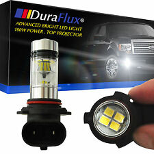 DuraFlux High Power Samsung LED 9006 HB4 6000K White Fog Driving Light Bulb 100W
