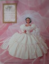 Annie's Attic 1999 Bridal Dreams Barbie Fashion June Crochet Bed Doll Pattern
