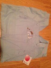 Petit Ami Little Boy Longalls Romper Soft Corduroy Outfit Dump Truck Blue 24 mos