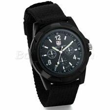 INFANTRY MILITARY Men's Black Outdoor Sport Army Quartz Wrist Watch Nylon Band