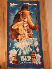 Ice Age 2 Vintage Beach Towel Ellie, Sid, Sylvia, Diego & Scrat RARE