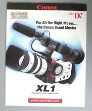 Canon XL-1 Mini DV Color Catalog and XL 3.4-10.2mm Zoom Lens Catalog Page