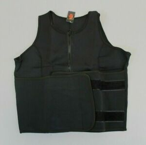 Perfect Sculpt Womens Sleeveless Weight Loss Sauna Sweat Vest Black MM1 Size 2XL
