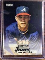 2017 Topps Stadium Club Baseball Card Chipper Jones #SCC-18 Braves MLB HOF MINT