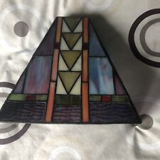 TIFFANY STYLE VINTAGE WALL LAMP STAINED GLASS UPLIGHTER, LOVELY CALMING LIGHT.