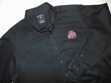 ANTIGUA Men's OHIP STATE Button Front Shirt ~ XL ~ Long Sleeves ~ Black