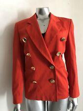 Escada Orange Buttons Cotton Suit Jacket Size 36 , Medium.