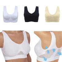 Comfort Aire Bra Women Breathable Yoga Underwear Shockproof Sports Fitness Bras