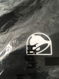 Taco Bell Uniform Apron Brand New In The Package Restaurant Draw String