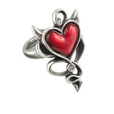 Alchemy Gothic Devil Heart Ul17 Ring T