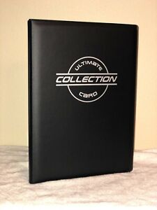 Toploader Binder with 40 Toploader Pages by The Sportstech Co BLACK