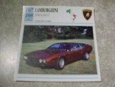 CARTE FICHE LAMBORGHINI ESPADA 400 GT