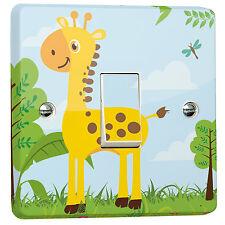 Jungle Giraffe Wall Light Switch Wrap Sticker for Crabtree Single 4070 1-gang