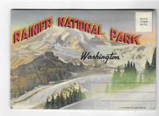 VINTAGE-POSTCARD FOLDER-RANIER NATIONAL PARK-WASHINGTON