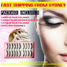 10 Pairs + ( FREE GLUE ) Natural Fake Makeup Eye Lash False Eyelashes - E05