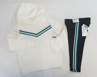 NWT Old Navy Girls Size 5 or 10-12 Retro Chevron Sweatshirt Black Crop Leggings