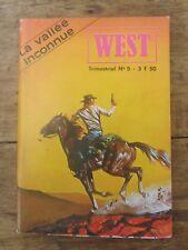 ANCIENNE BD LA VALLEE INCONNUE WEST  N° 5 1979