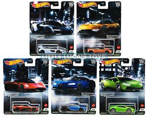 Hot Wheels Premium Car Culture Exotic Envy Complete Set 1-5