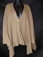 Vintage Couture Beige Cape Poncho Cardigan UK Size S/M
