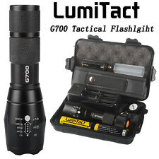 12000lm Genuine Lumitact G700 LED Tactical Flashlight Military Torch 2xBatteries