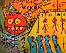 ABSTRACT Painting Graffiti Expressionist MODERN Wall Art MAKING ZOMBIES FOLTZ