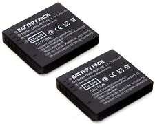 2x Battery for Panasonic CGA-S106 CGA-S009 4984824841246 DE-A59B DE-A60A DE-A60B