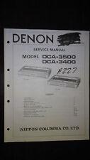 Denon dca-3500 3400 service manual original repair book stereo amp amplifier