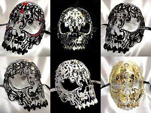 Venetian Vintage Laser Cut Light weight Metal Death Skull Sexy Devil Costume