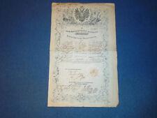SERBIAN VOJVODINA AND BANAT OF TEMES - AUSTRIAN EMPIRE - ORIGINAL PASSPORT 1850