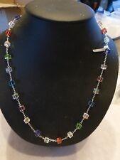Collier cristal Swarovski  Swarovski  éléments perle cube montées sur argent