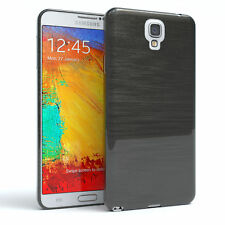 Schutz Hülle für Samsung Galaxy Note 3 Neo Brushed Cover Handy Case Anthrazit