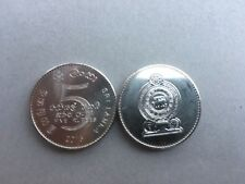 Pièce monnaie SRI LANKA CEYLON CEYLAN 5 RUPEES 2016 UNC NEW NEUVE
