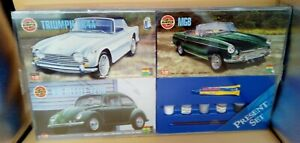 Airfix Sports Car Present Set - L8472 9522 CL..Set of 3 Cars Unused and Sealed