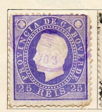 Cape Verde 1886 Early Issue Fine Used 25r. 154085