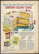 1953 EASTER GLORY CAKE Recipe SWANS DOWN AD Baking  Flour  Vintage Food Kitchen