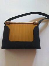 Vintage Vanity Powder Compact Gold Tone Volupte Black Case